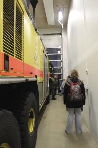 Fremvisning af Flyvestationen's brandbiler